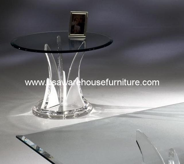 Acrylic Butterfly End Table