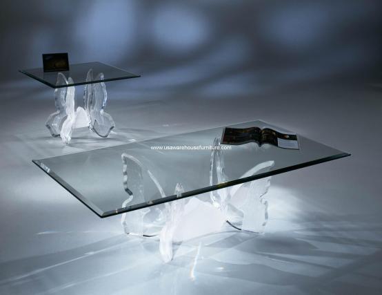 Acrylic Butterfly II Coffee Table