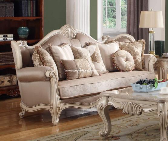 . Mcferran Furniture SF8701 Natalie European Sofa Antique Beige