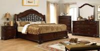 4 Piece Edinburgh Traditional Bedroom Set Brown Cherry ...