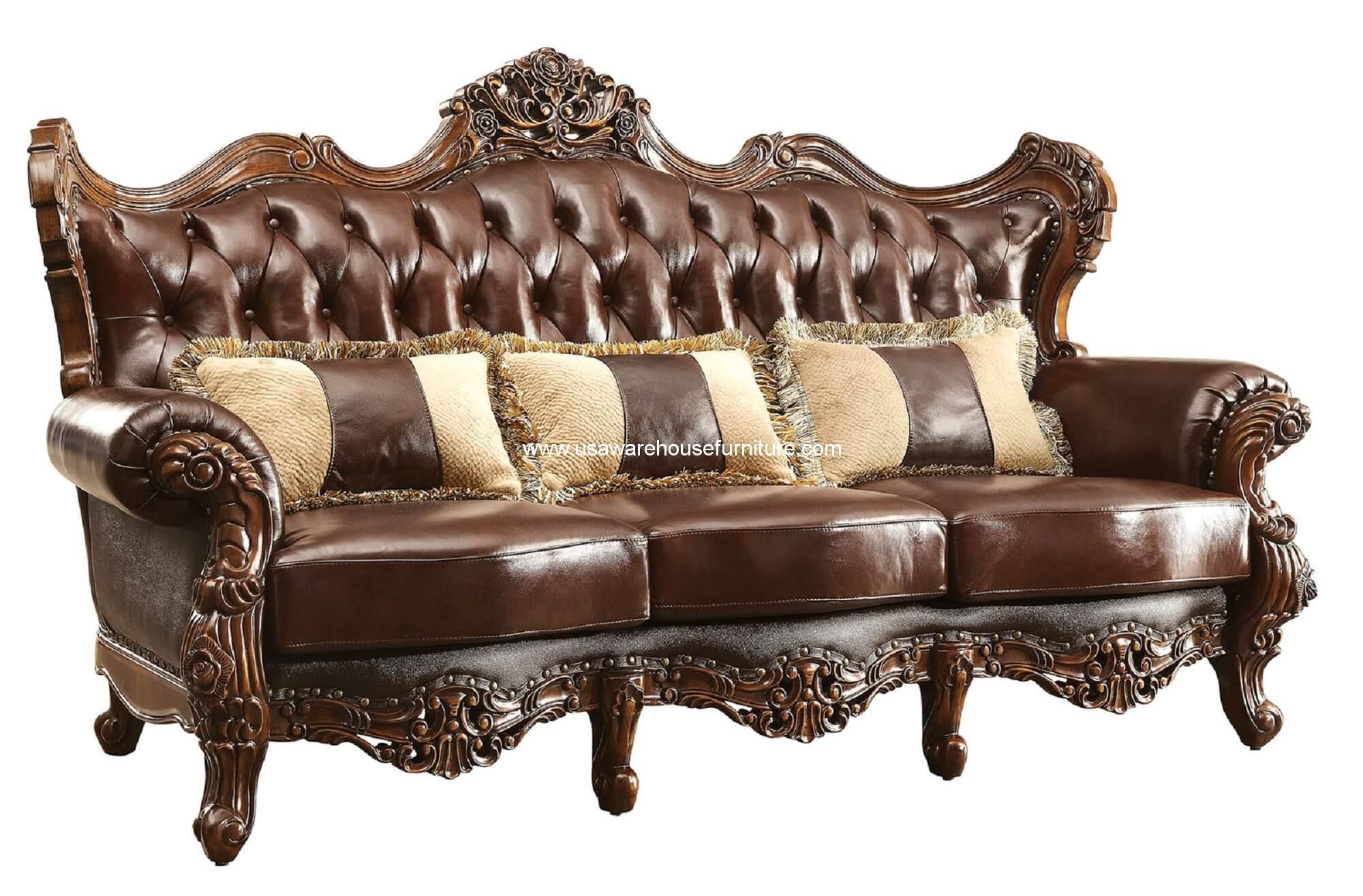 contemporary sofa with wood trim como hacer cama para perros leather sofas wayfair