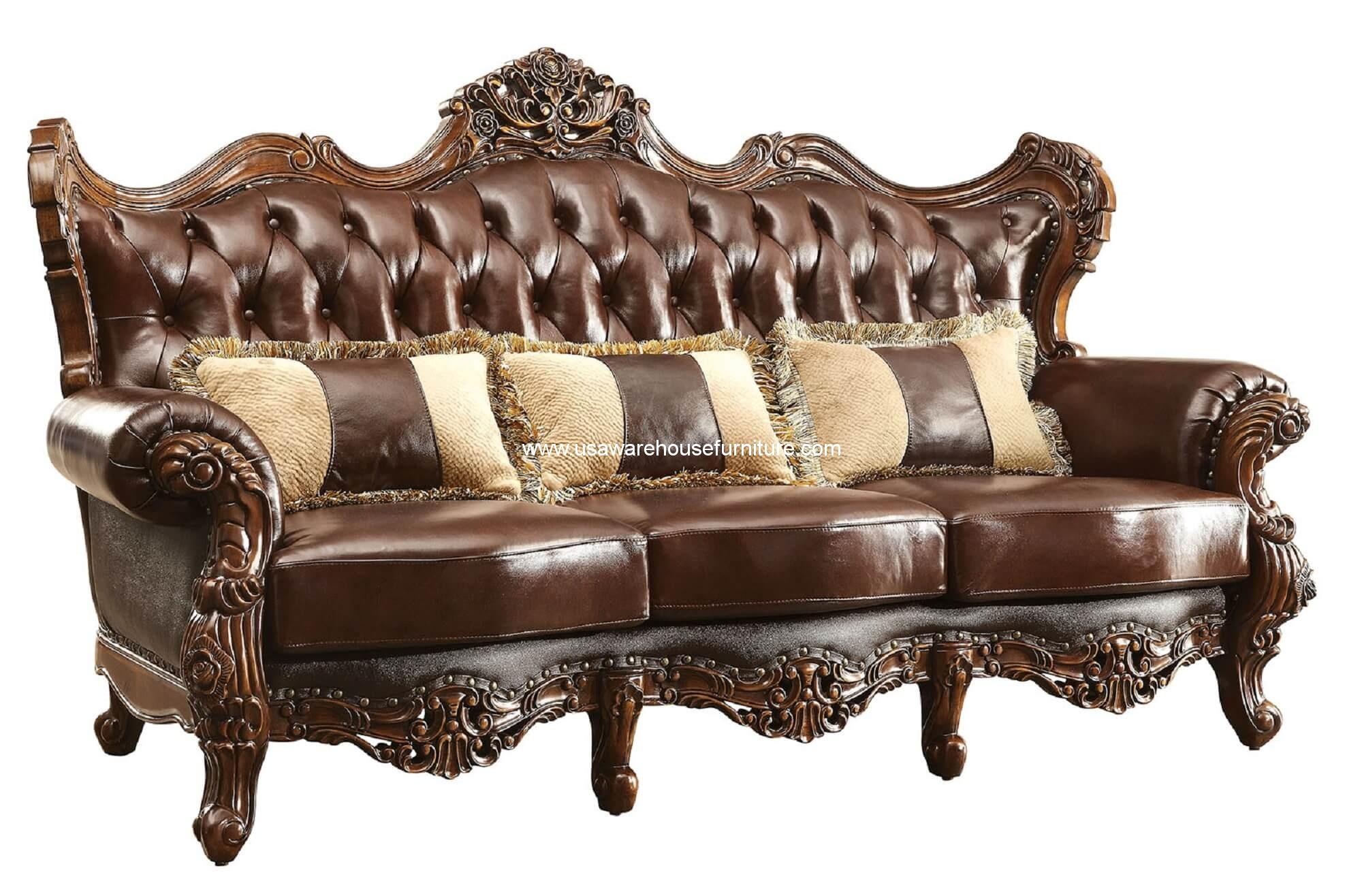 fabric sofa sets with wood trim noguchi vitra leather sofas wayfair