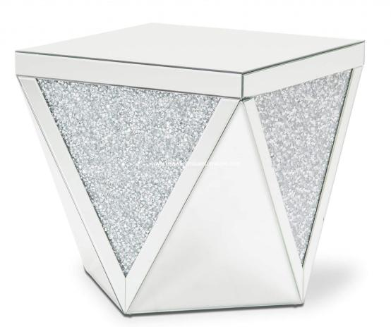 Montreal Mirror With Crystal End Table
