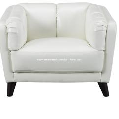 Full Grain Leather Chair Steelcase Leap Instructions Frances Ivory White Top Usa