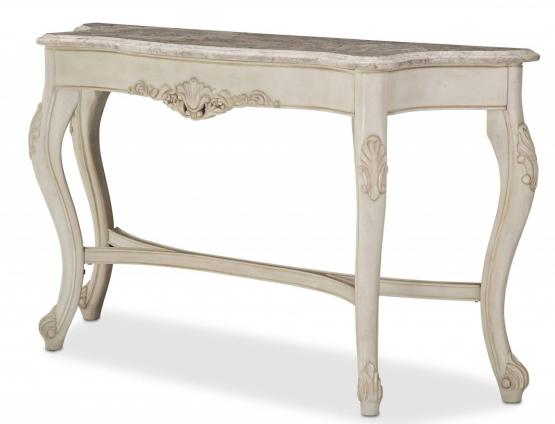 Villa Di Como Console Table Moonlight Finish