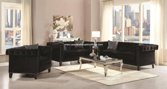 Reventlow Button Tufted Sofa Set
