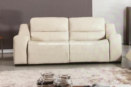 Avana Italian Leather Power Recliner Sofa