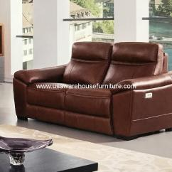 Italian Leather Recliner Sofa Set Fundas Para La Redoute Forma Brown Full Power Loveseat