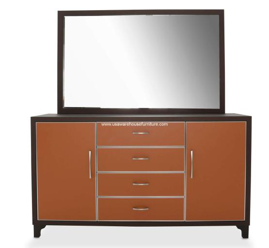 Michael Amini 21 Cosmopolitan Orange Drawer Dresser