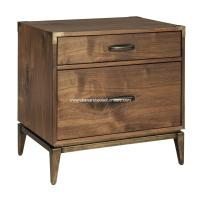 Adler 2 Drawer Nightstand Natural Walnut - USA Warehouse ...