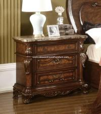 Nottingham 3 Drawer Nightstand With Marble Top - USA ...