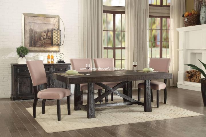 7 Piece Eliana Rustic dining set