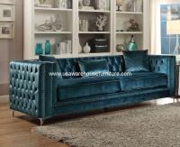 Gillian Sofa Dark Teal Velvet - USA Warehouse Furniture