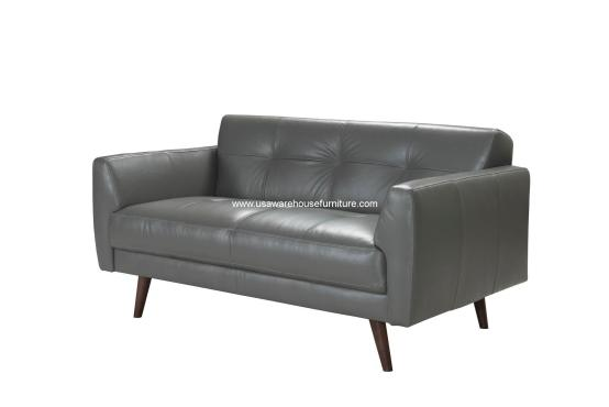 Adda Italian Leather Loveseat