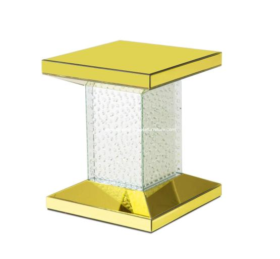Montreal Gold Mirrored Chairside Table