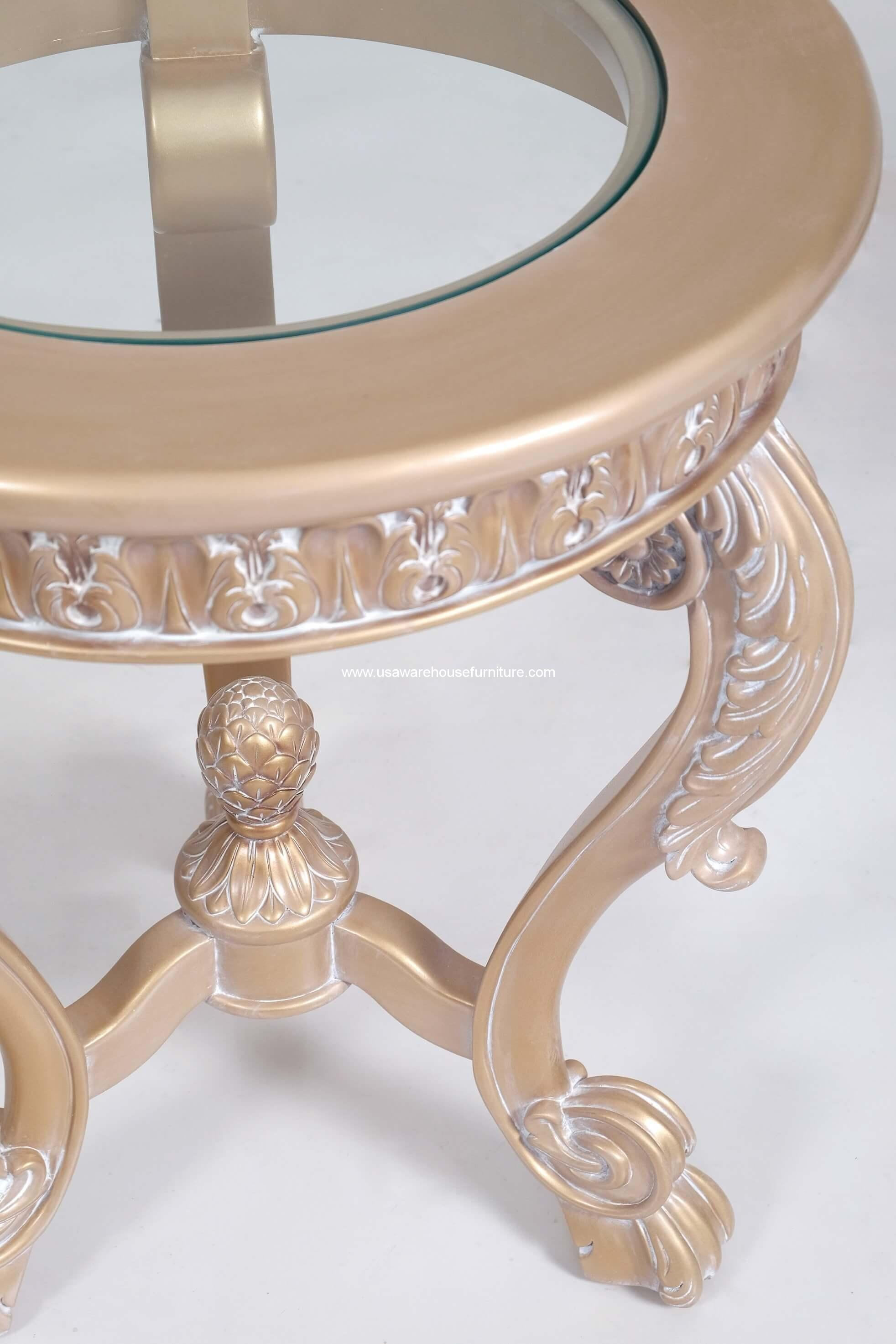Imperial Palace Round End Table Usa Warehouse Furniture