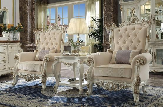 3 Piece Picardy II Victorian Chair Set