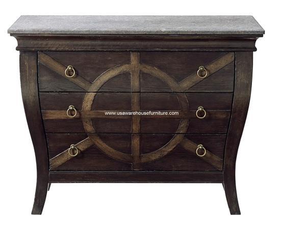 3 Drawer Brace Bedside Table