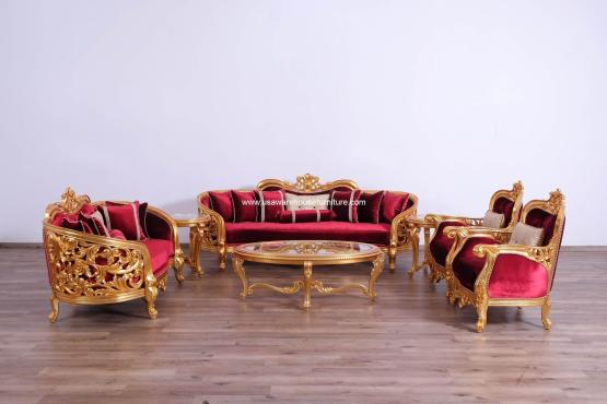 Bellagio II Gold Sofa Set