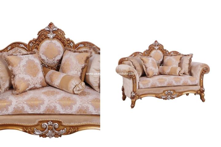 Raffaello II Brown Loveseat