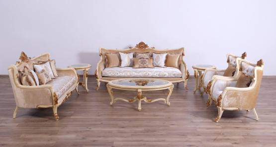 Veronica III Beige Sofa Set