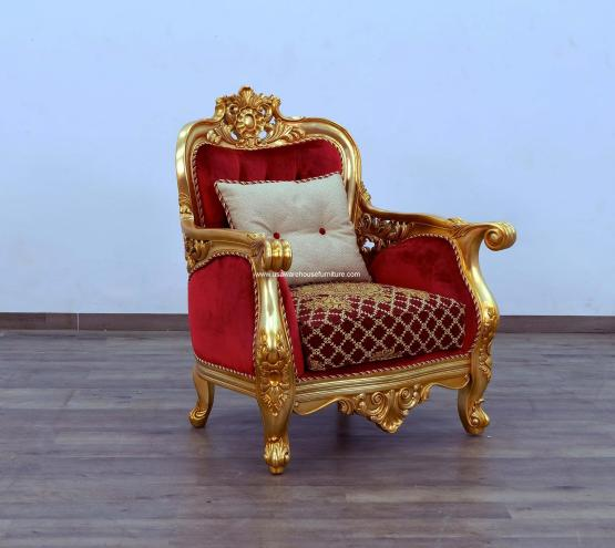 Bellagio II Accent Chair Red-Gold
