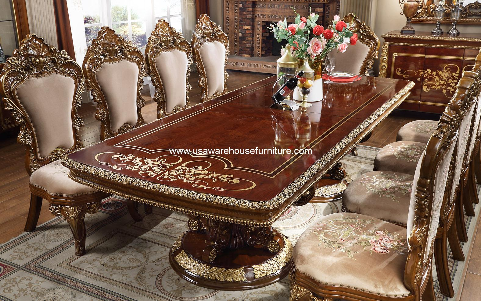 Hd 1803 Victorian Dining Room Set Usa Warehouse Furniture