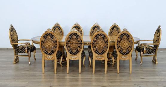 11 Piece Emperador Dining Room Set