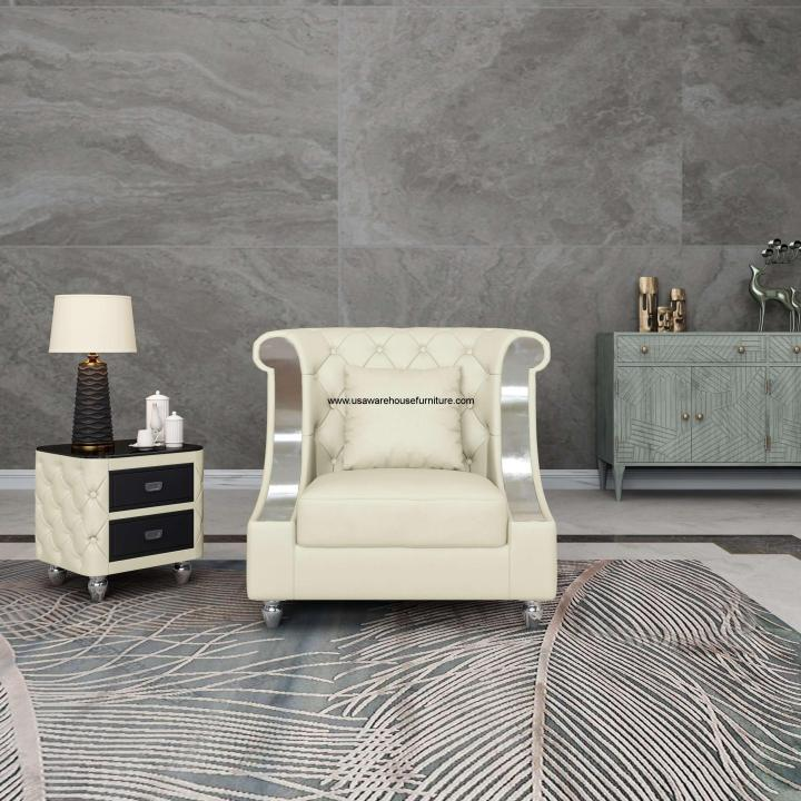 Mayfair Chair Off White Premium Leather