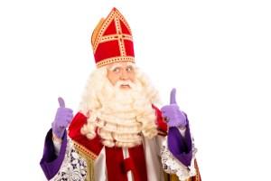 Happy Sinterklaas on white background