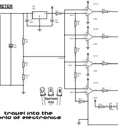 picture led voltmeter schematic [ 1100 x 790 Pixel ]