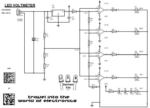 small resolution of picture led voltmeter schematic