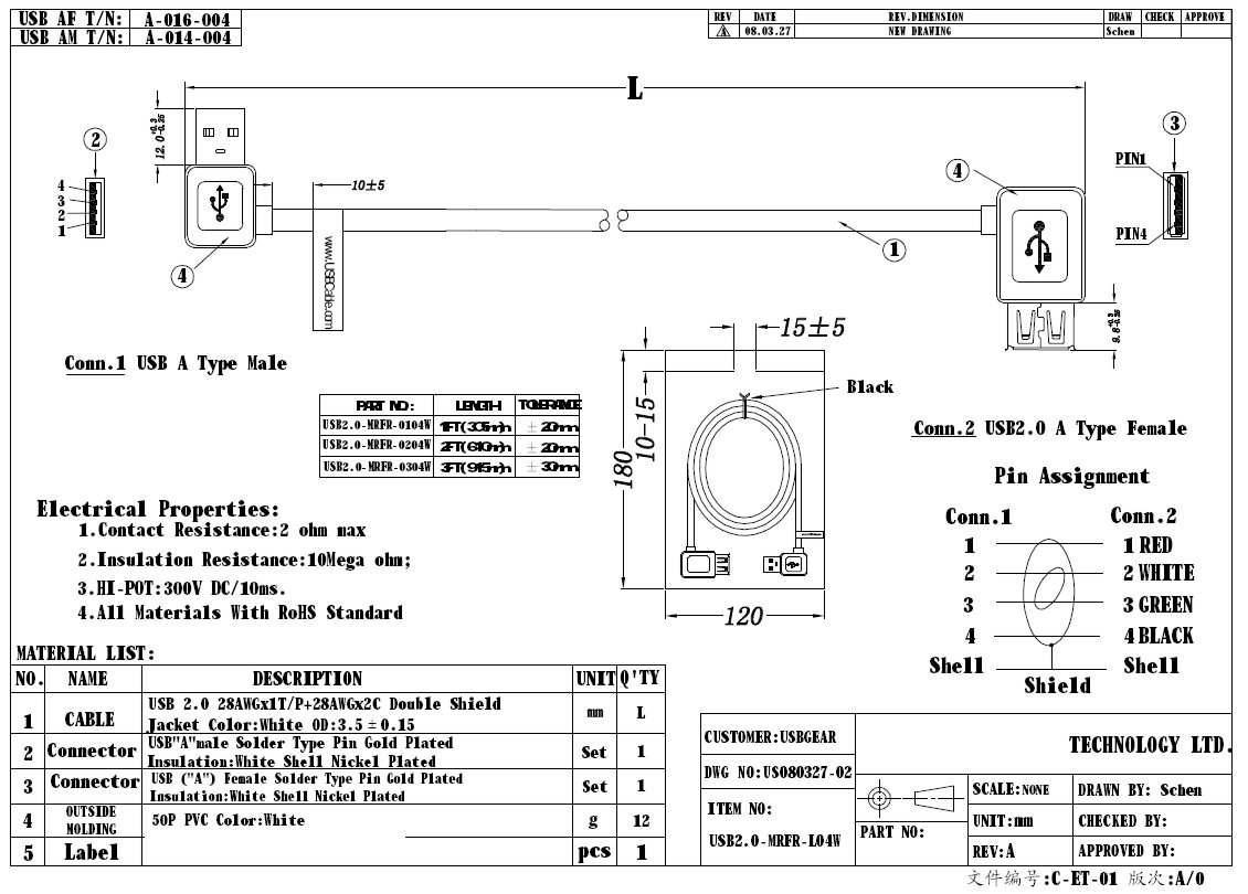 usb extension cable wiring diagram hotpoint tumble dryer 3ft a male to female right angle