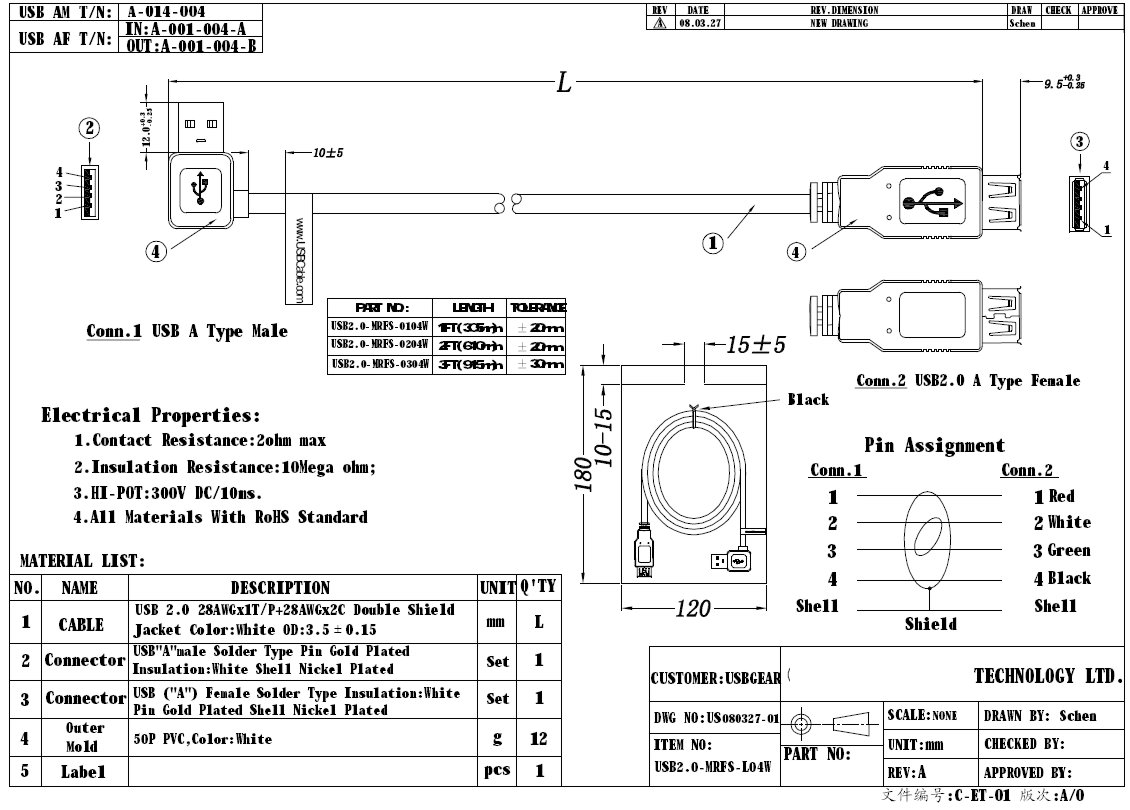 usb 3 0 micro b wiring diagram 110cc quad 2ft 2 extension cable a male right angle to female