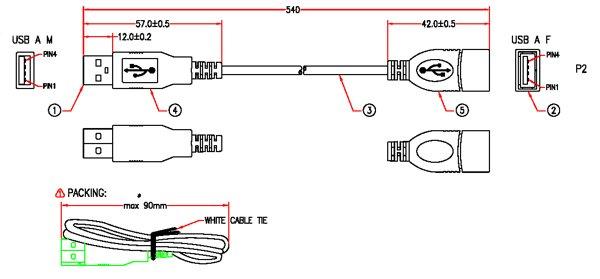 Usb Extension Cable Wiring Diagram Efcaviation Com