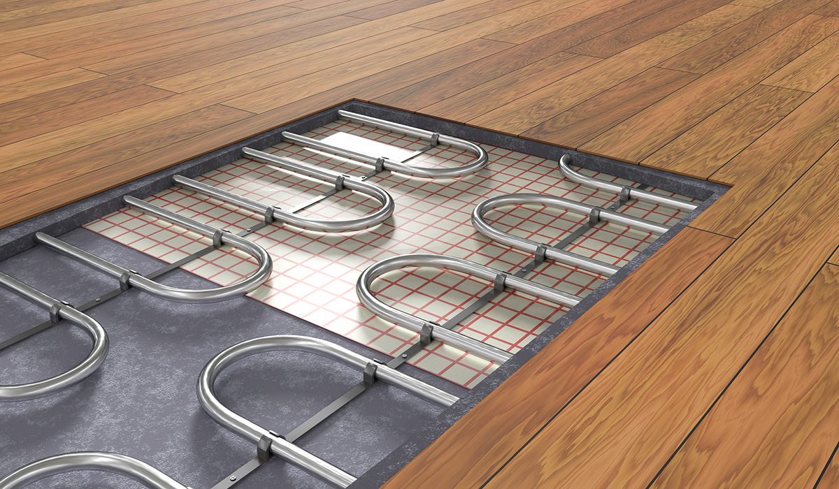 hight resolution of in floor radiant hydronic heating system new home construction