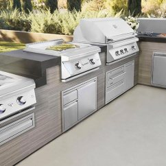 Outdoor Kitchen Microwave Cart Planning Your New With Delta Heat Twin Eagle A Appliances