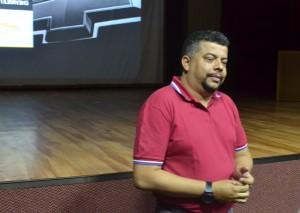 Edmilson Cabelo, palestrante do último dia do Comunica. (Foto: Wesley Contiero)