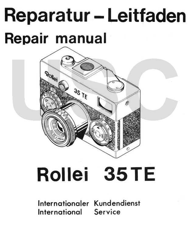 ROLLEI Repair Manual 35 TE 35mm film camera SERVICE MANUAL