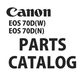 Canon Service Manuals / Part Catalogs from USCamera.com