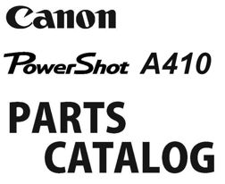 Canon Camera Service Manuals / Parts Catalogs from