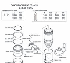 Canon Parts List from USCamera.com