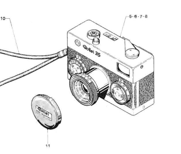 ROLLEI 35 Repair Manual film camera SERVICE MANUAL