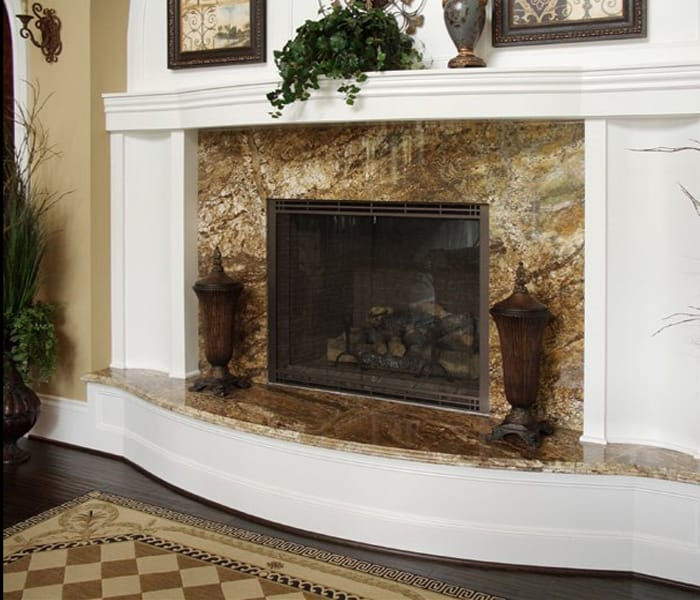Marble And Granite For Fireplace Hearth  Unique Stone
