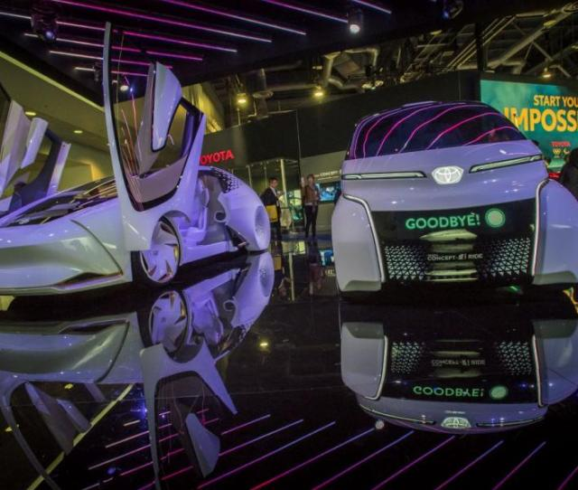 Toyotas Concept I Ride Autonomous Vehicle Right On Display At The  Consumer