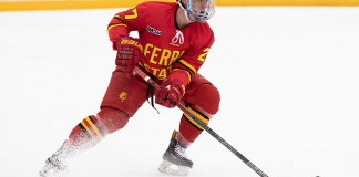 28 Dec 18: The University of Minnesota Golden Gophers host the Ferris State University Bulldogs in a non-conference matchup at 3M at Mariucci Arena in Minneapolis, MN (Jim Rosvold/University of Minnesota)