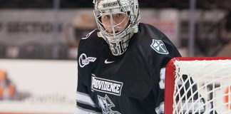 Hayden Hawkey (31 - Providence) had 36 saves in a 5-1 win at RIT (Omar Phillips)