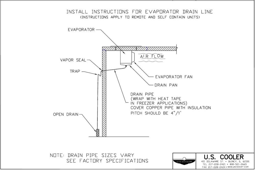 medium resolution of install instructions for evaporator drain line
