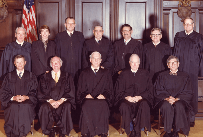 Image: Judge King with her 5th circuit colleagues after a reorganization in 1981.
