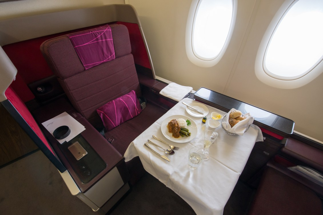 Malaysia Airlines A380 First Class Meal